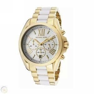 Michael Kors Bradshaw Chronograph White/Gold Watch